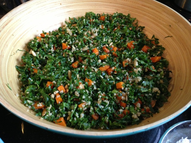 Kale & Summer Squash Salad With Quinoa & Lemon Recipes — Dishmaps