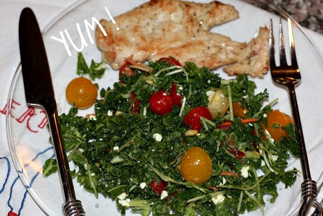 Kale Salad and chicken