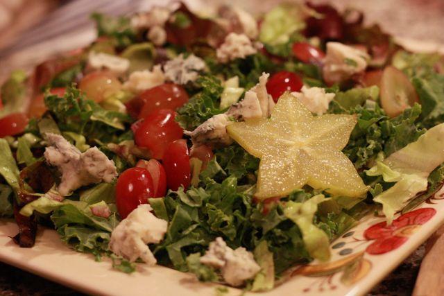 Autumn Salad with Starfruit