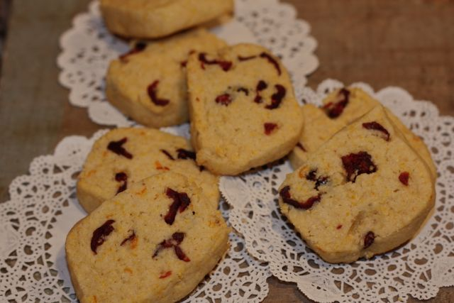 cornmeal cookies w: orange zest
