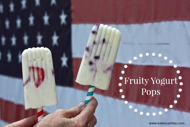 red, white, blue pops
