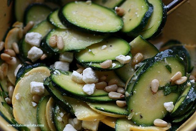 zucchini salad with feta