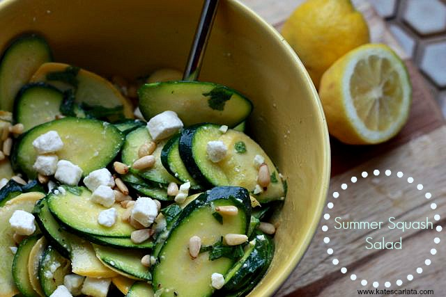 Summer Squash Salad - For A Digestive Peace of Mind—Kate Scarlata ...