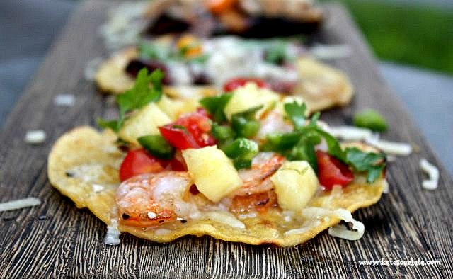 shrimp taco w pineapple salsa