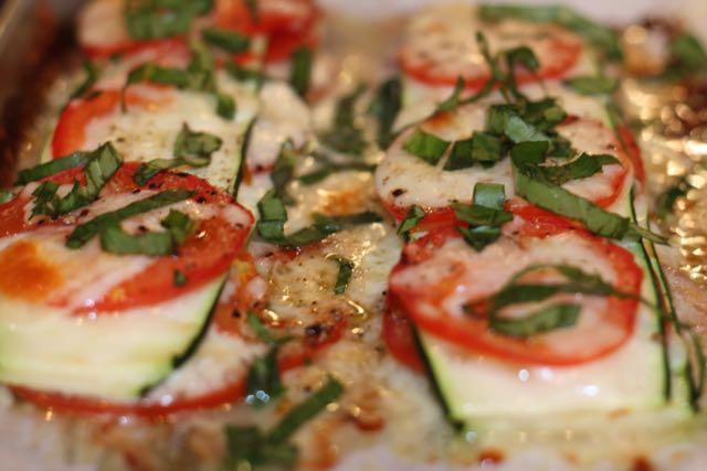 Layered zucchini baked