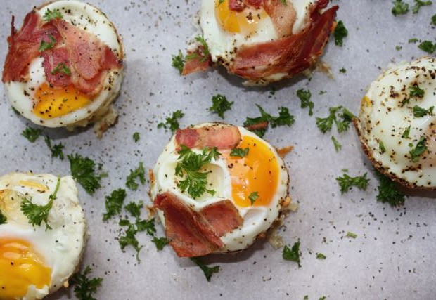 egg nests plated