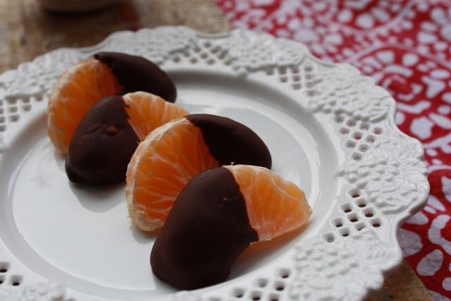 choc dipped clementines