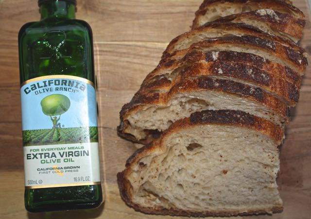 olive oil and sourdough