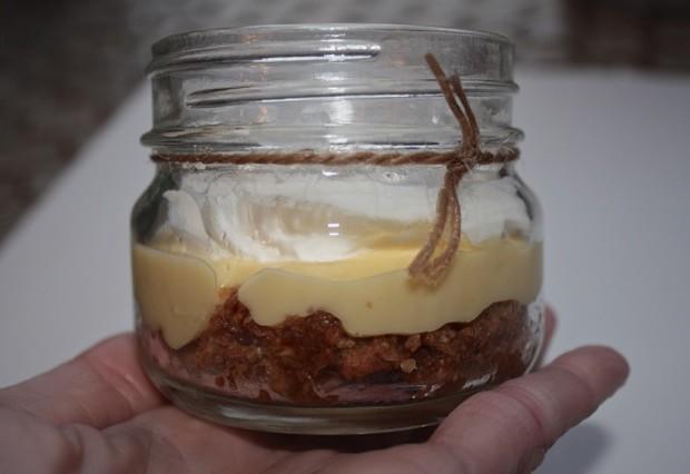 lemon pie in mason jar to go