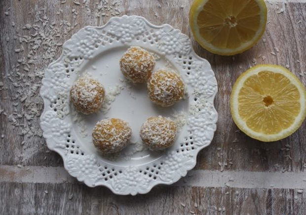 lemon coconut bites