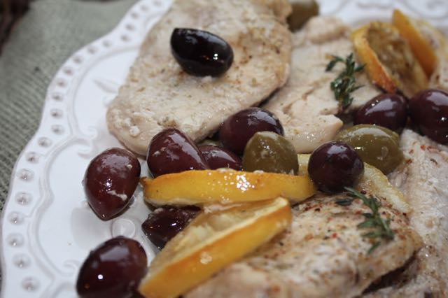 Lemon Olive Chicken Plated