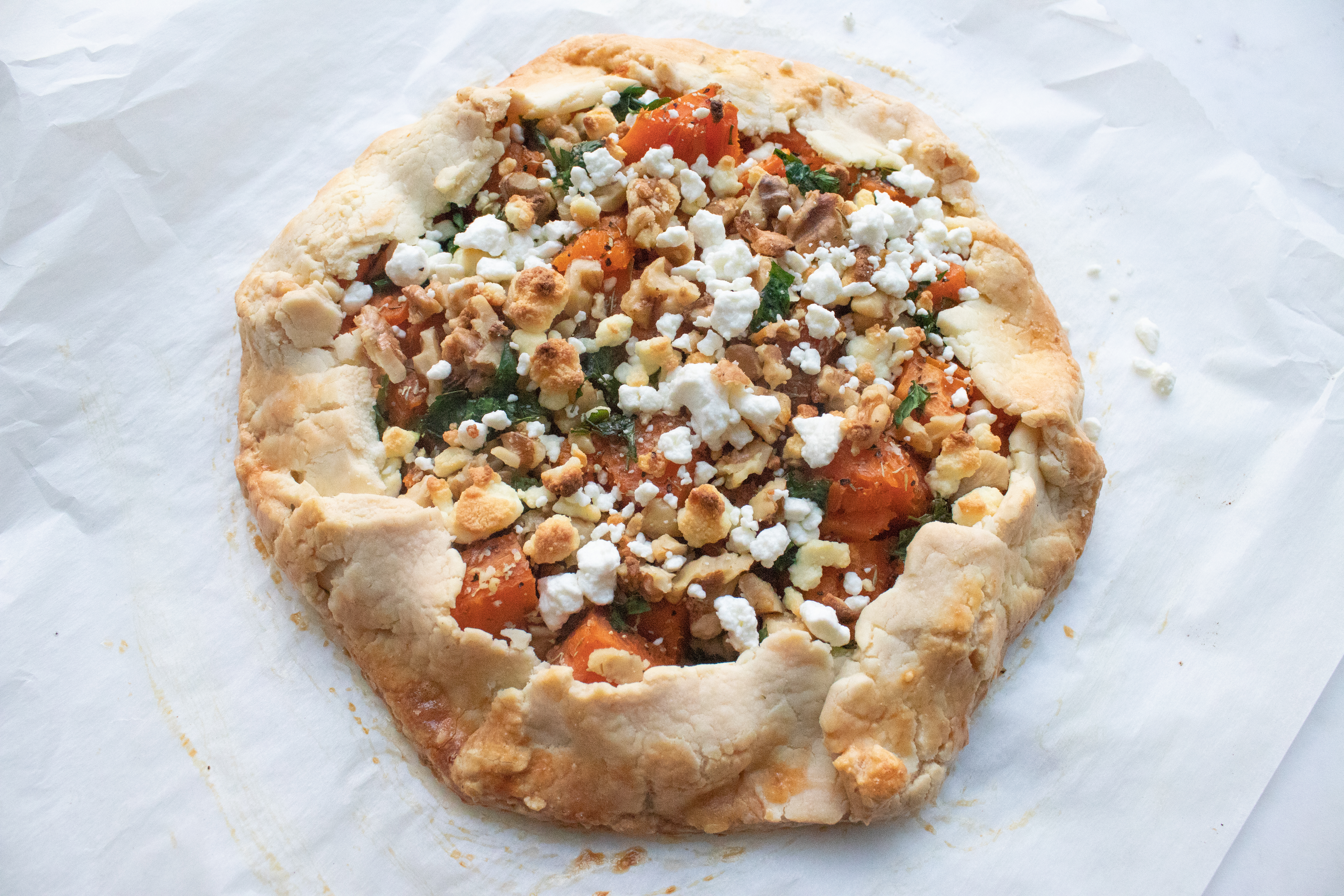 Sweet Potato and Goat Cheese Galette