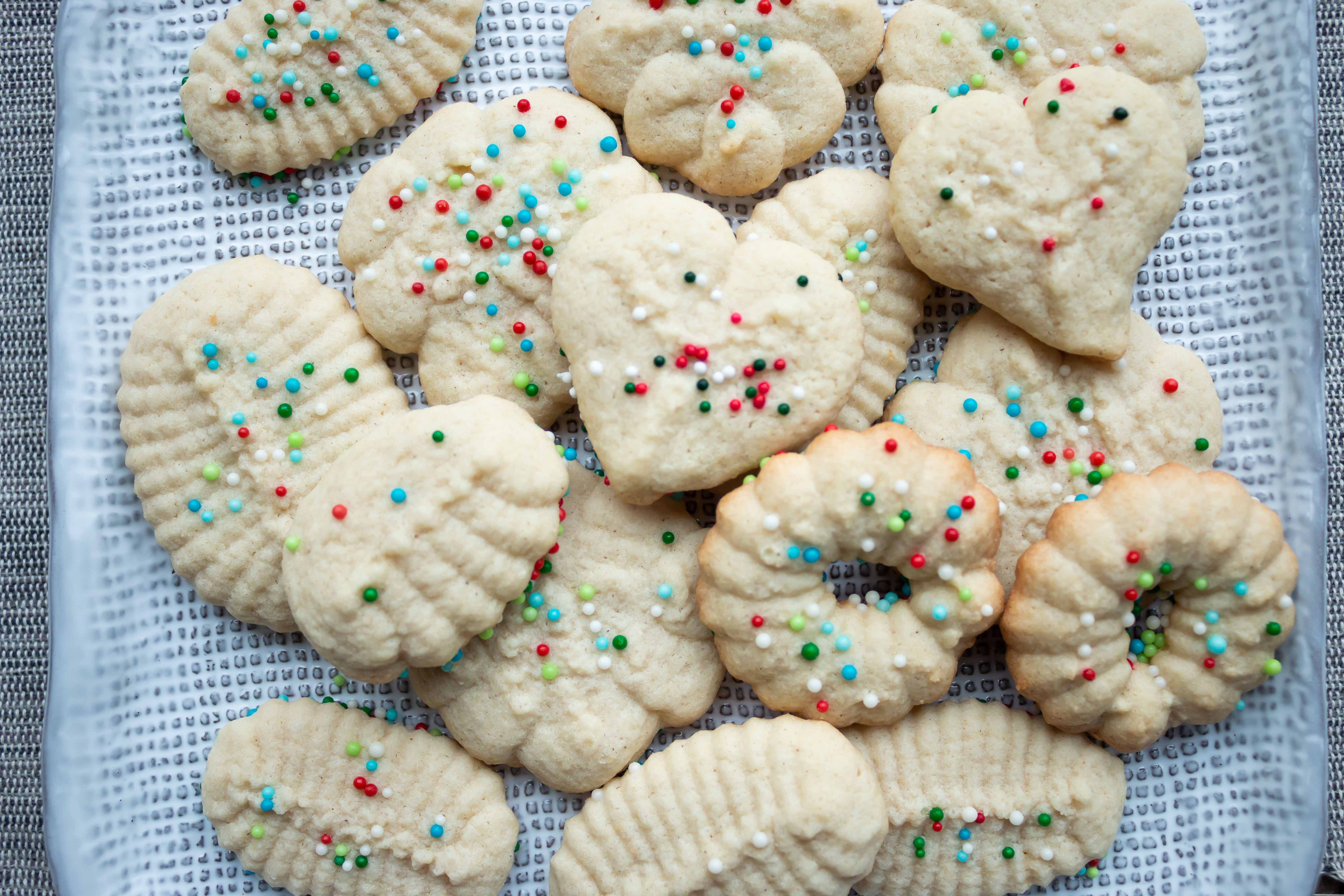 Gluten free + Low FODMAP Spritz Cookies