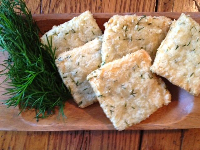 Almond, Parmesan and Dill Crackers (low FODMAP recipe)