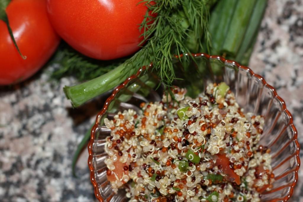 Tomato Lime Quinoa Salad (low FODMAP recipe)