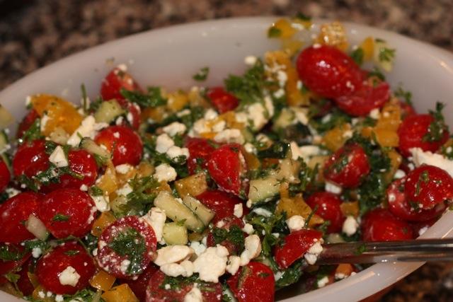 Mediterranean Salad with Feta (FODMAP friendly)