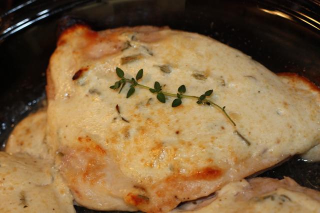 Cheesy Yogurt and Herb Chicken
