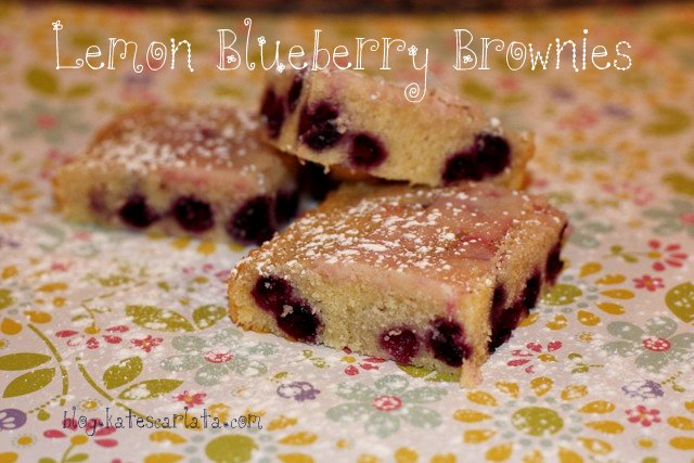 Lemon Blueberry Brownies