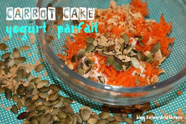 Carrot Cake Parfait with Pepitas and Maple Flakes