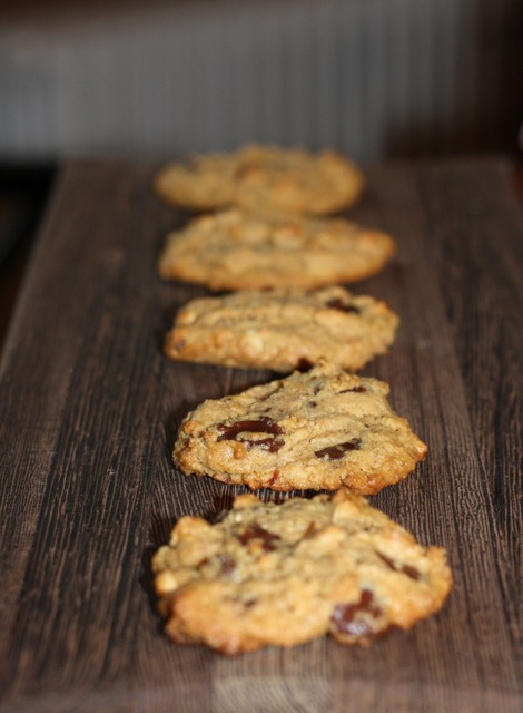 Crunchy Peanut Butter Cookies with Bittersweet Chocolate Chips
