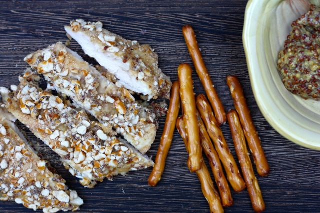 Mustard-y Pretzel Crusted Chicken (FODMAP friendly)