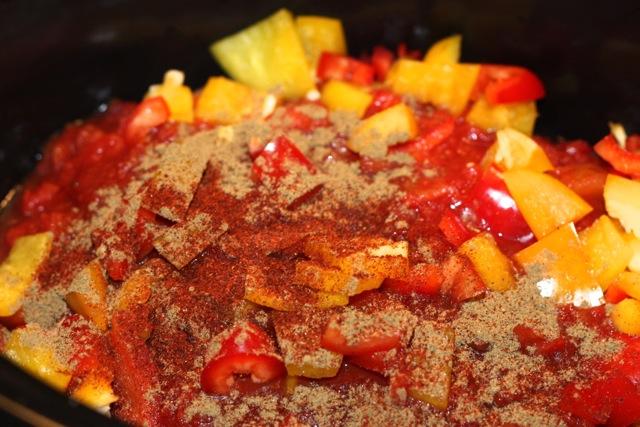 mixture in crockpot