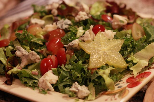 Autumn Salad with Starfruit