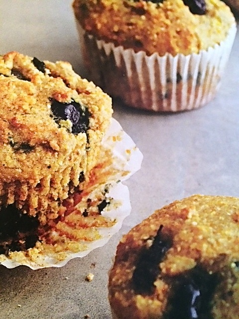 corn blueberry muffin