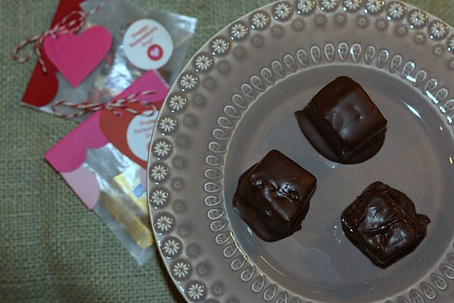 Valentine's treat chocolate covered pineapple