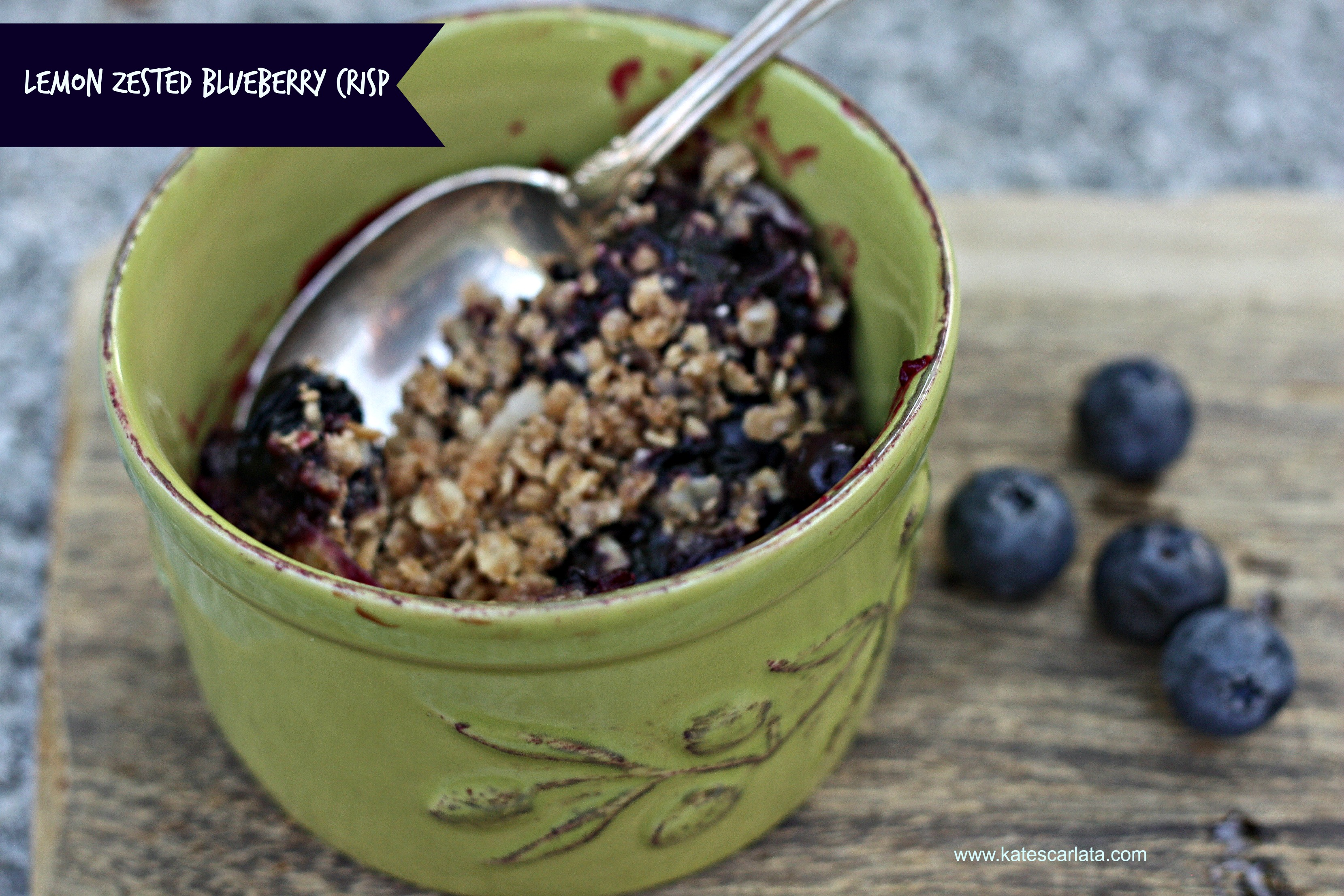 blueberry zested crisp ready to eat