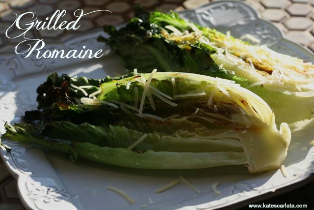 Grilled Lemon and garlic romaine
