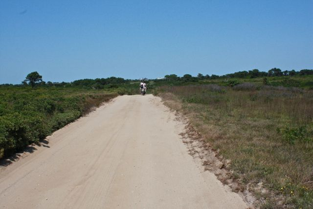 sandy road to beach