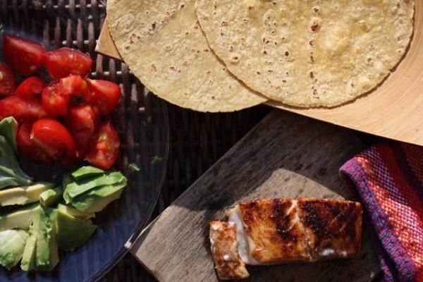 Fish taco ingredients
