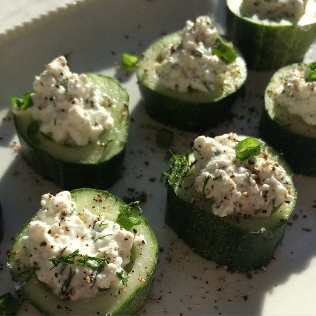 Cucumber and Dill-infused Cottage Cheese Appetizer