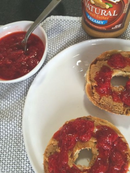 strawberry jam and toast