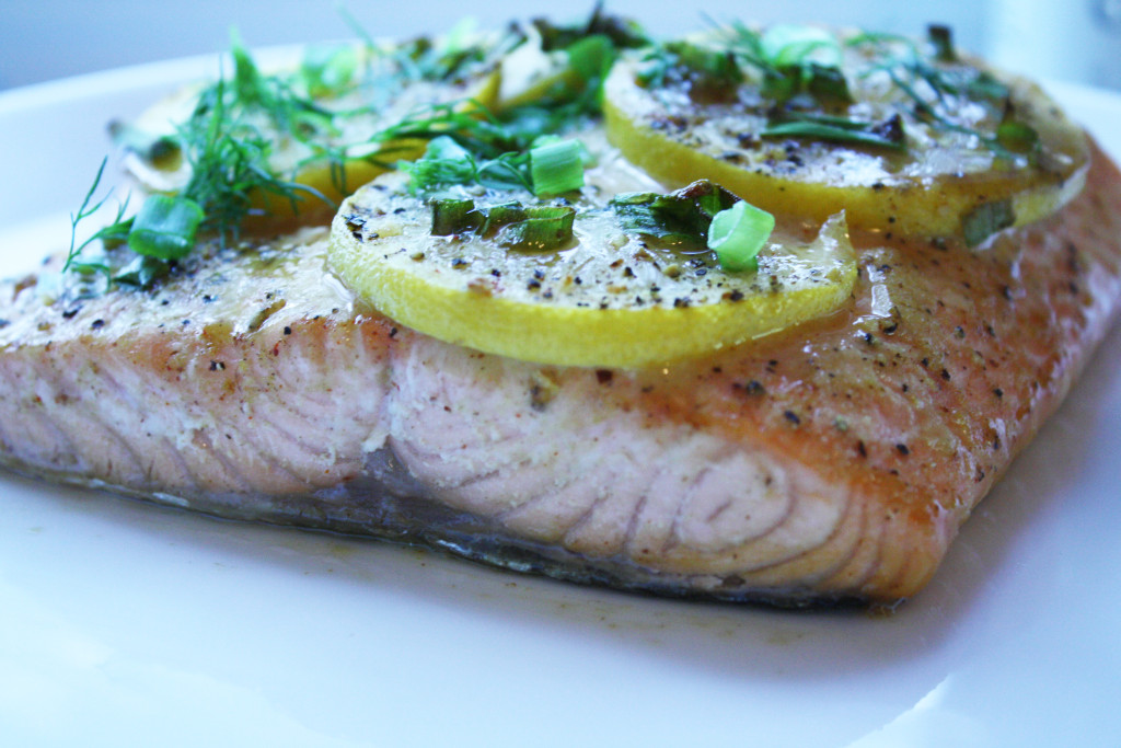 Salmon with Maple, Mustard and Dill