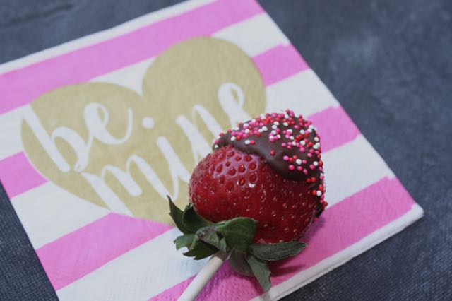 Valentine strawberry dessert