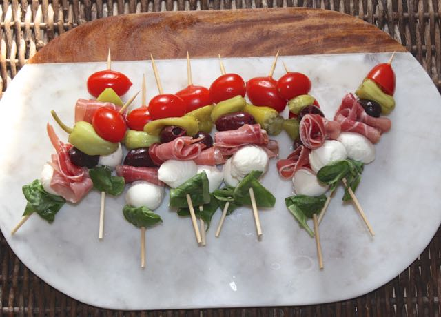 Low FODMAP Antipasto Skewers
