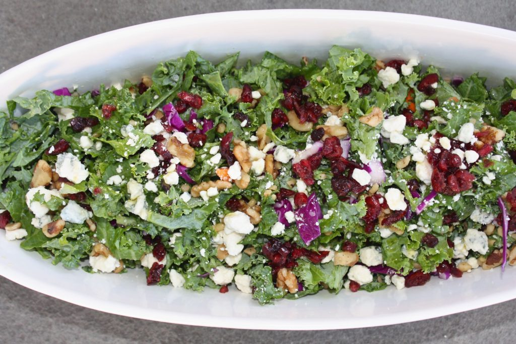 Kale Cranberry Walnut Salad