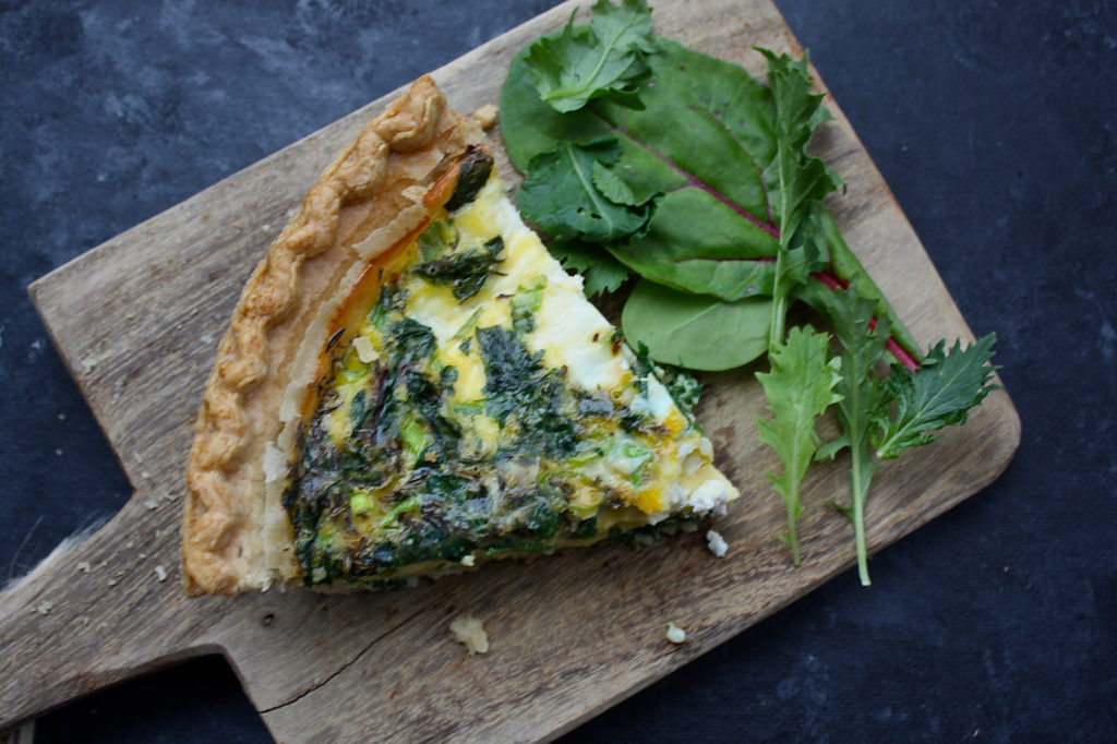 Spinach, Kale & Farmer's Cheese Quiche