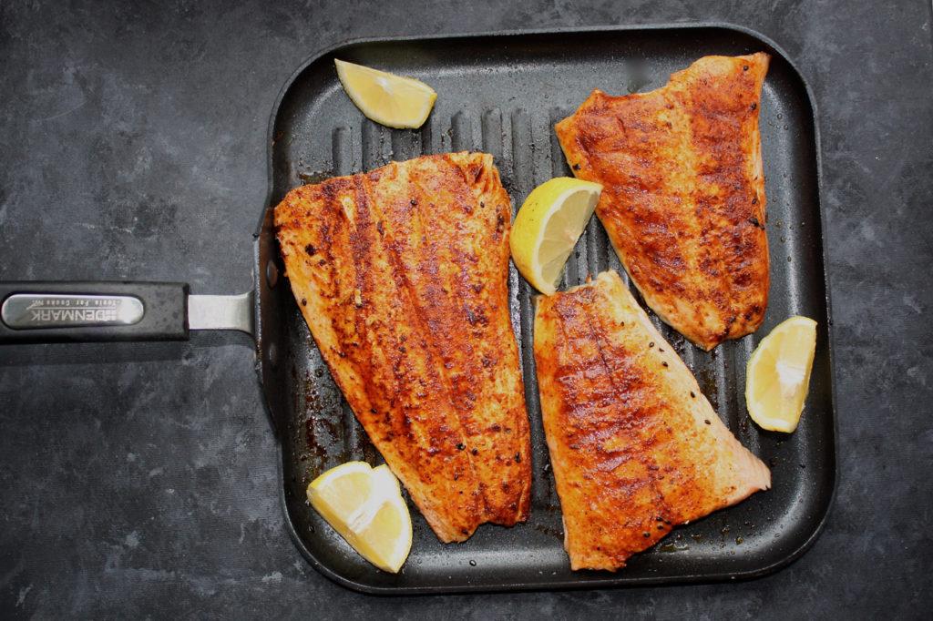 Simply Seared Salmon with BBQ Rub