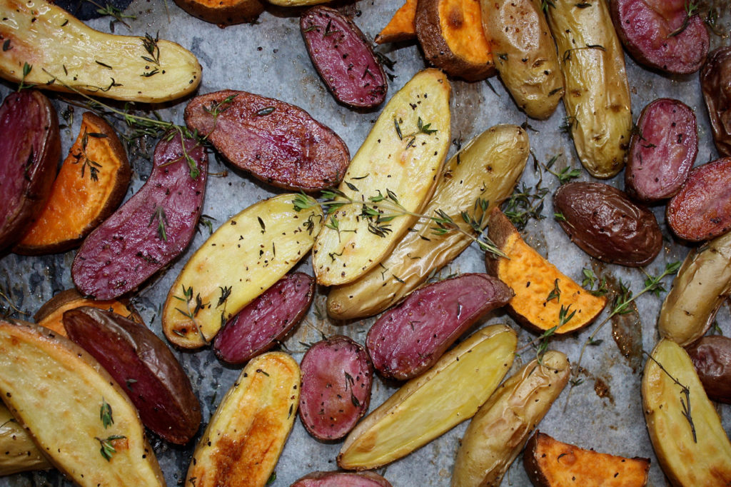 Roasted Spuds with Thyme