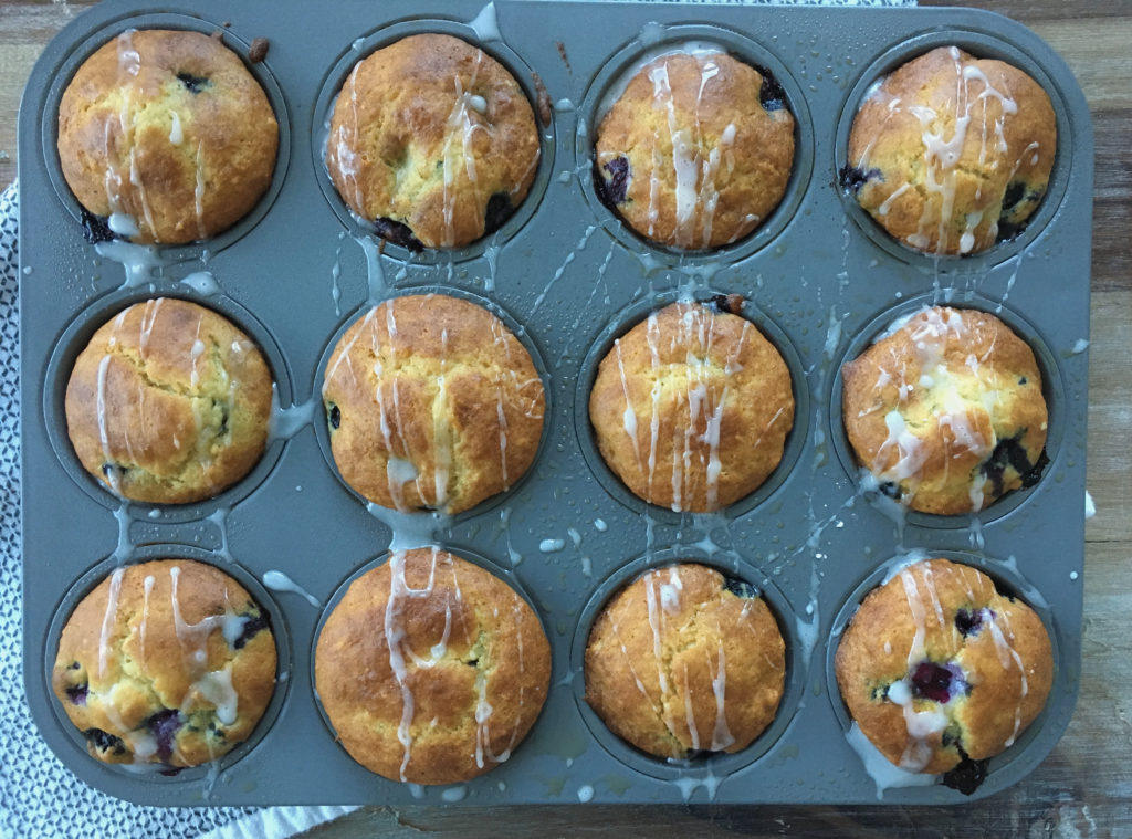 Low FODMAP & GF Blueberry Muffins
