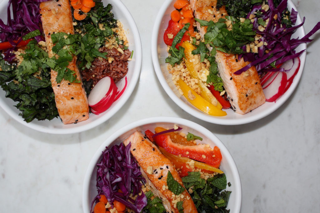 Seared Salmon Asian Inspired Nourish Bowl