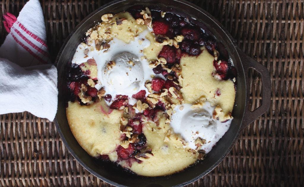 Berry Cobbler (gluten free + low FODMAP)