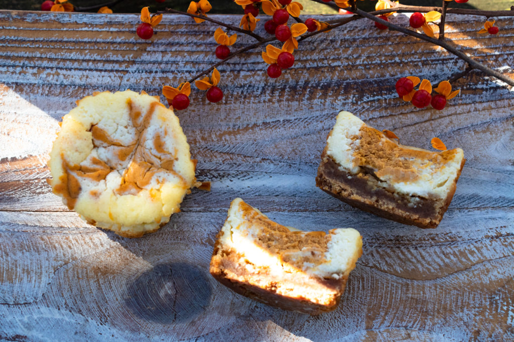 Mini Pumpkin Swirl Cheesecakes (low FODMAP)