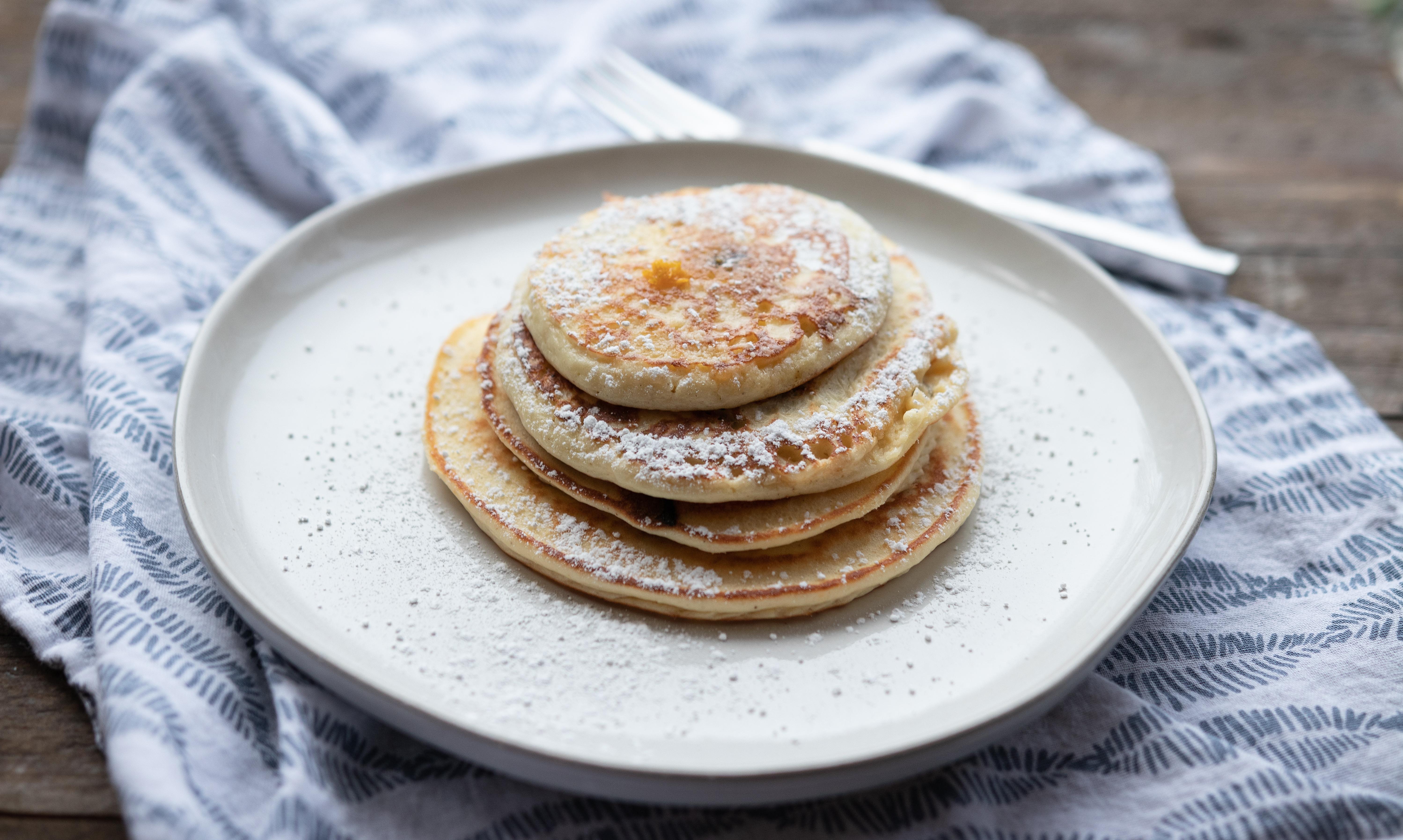 Orange & Dark Chocolate Blender Ricotta Pancakes