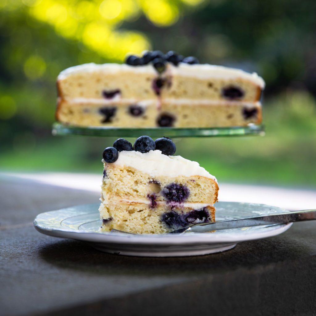 Gluten Free + Low FODMAP Blueberry Cake