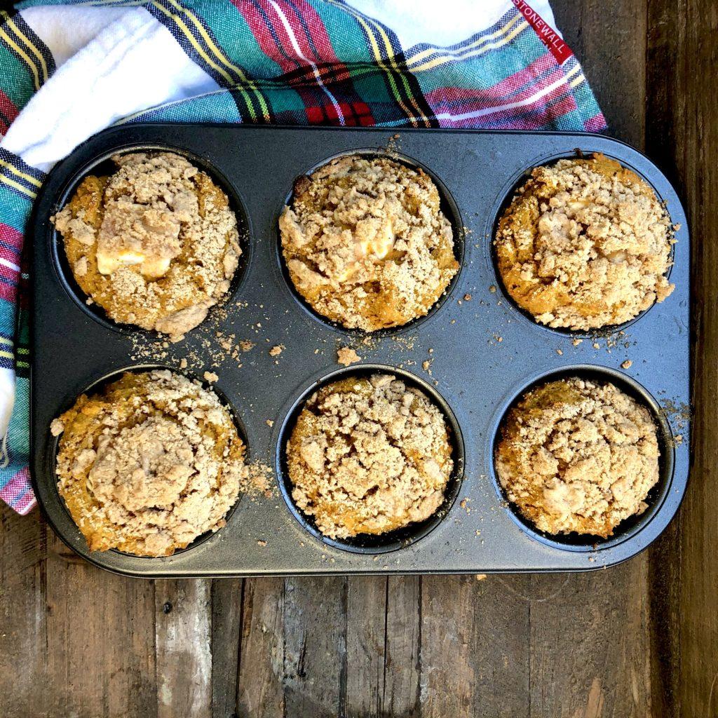 Streusel topped Pumpkin Muffin