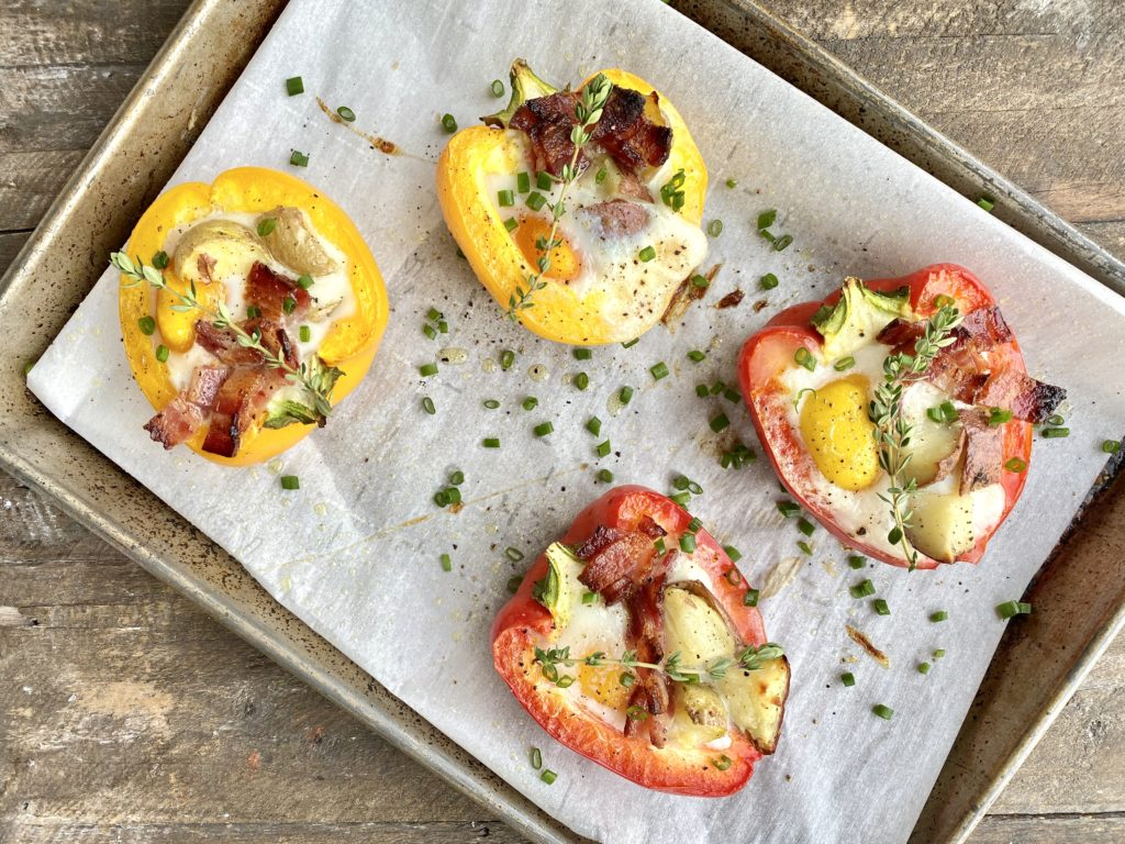 Breakfast Red Bell Pepper + Egg Cups (low FODMAP)
